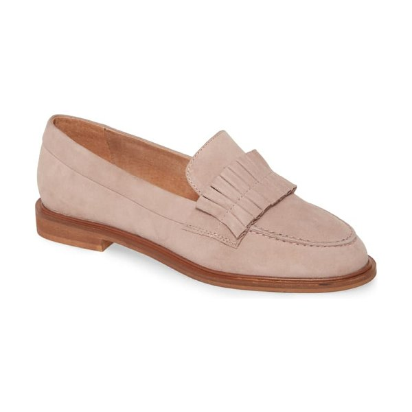 Seychelles powerful loafer in blush suede