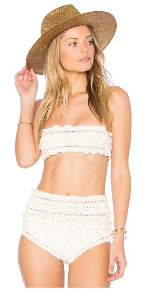 SHE MADE ME Crochet Bandeau Top - 100% cotton. Hand wash cold. Stretch fit. Crochet knit...