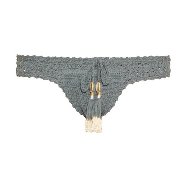 SHE MADE ME Essential hipster crochet bikini briefs - She Made Me's slate-blue Essential bikini briefs are...