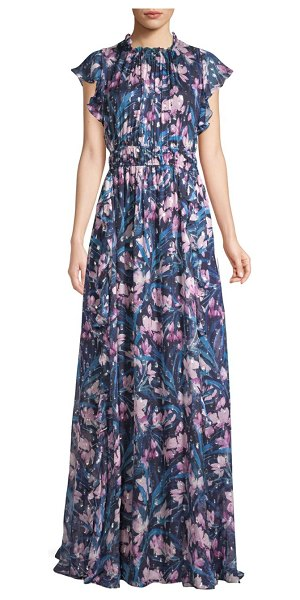 Shoshanna Triana Floral Gown in navy blush