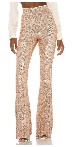 Show Me Your Mumu flash pants in rose gold sequins