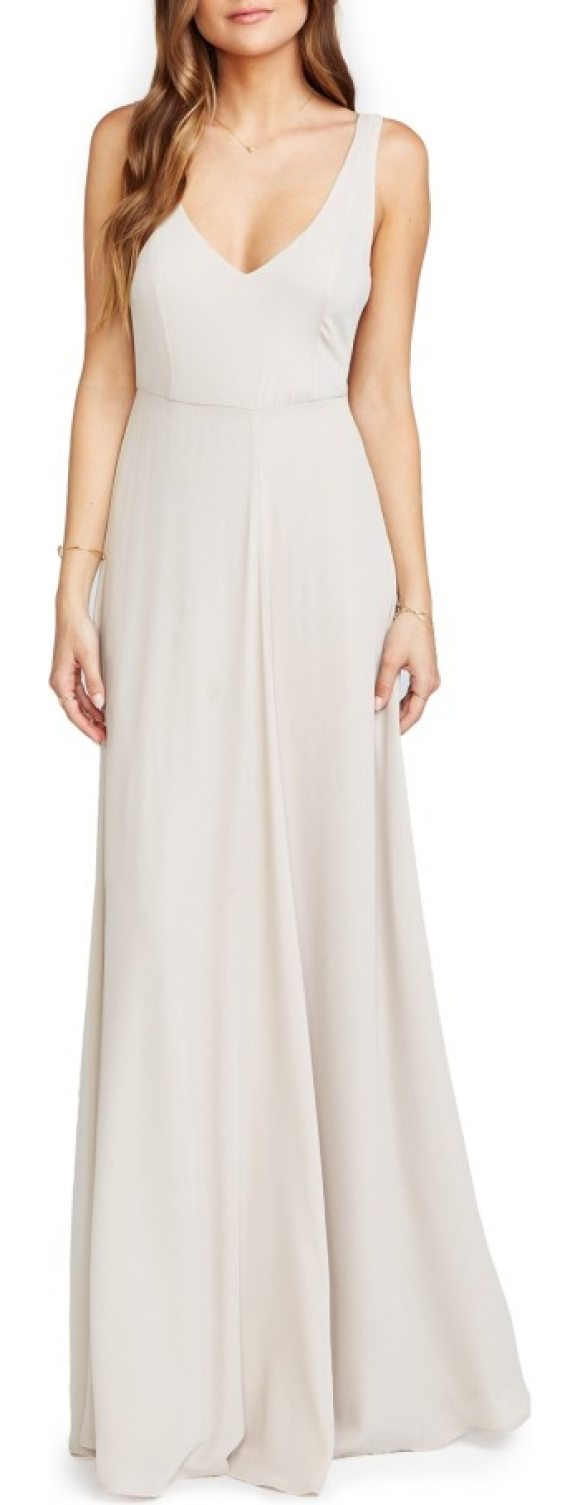 Show Me Your Mumu jen chiffon a-line gown in show me the ring