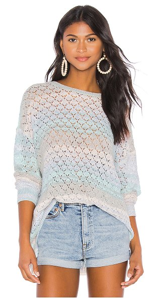 Show Me Your Mumu pie in rainbow sorbet - Show Me Your Mumu Pie In The Sky Sweater in Baby Blue. -...
