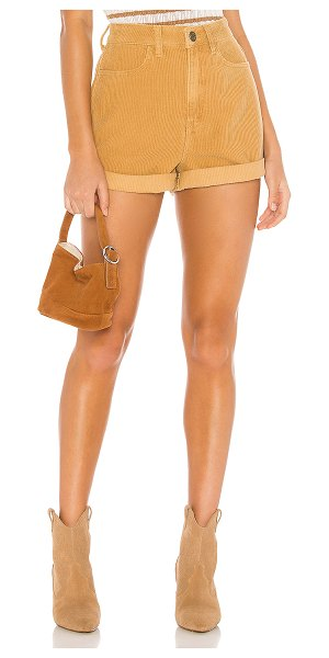 Show Me Your Mumu raleigh roll up shorts in dijon corduroy