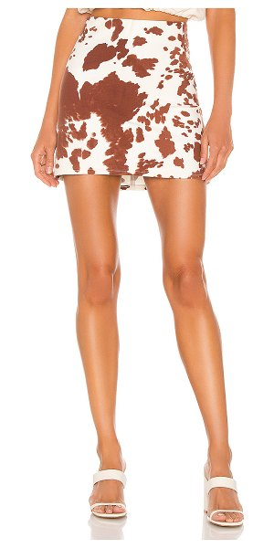 Show Me Your Mumu roxanne mini skirt in holy cow