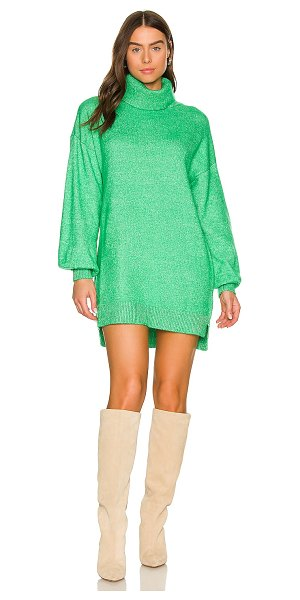 Show Me Your Mumu x revolve chester sweater dress in kelly green
