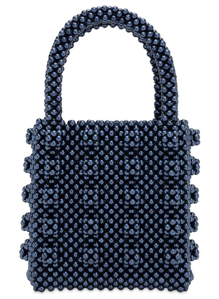 Shrimps Antonia beaded top handle bag in navy