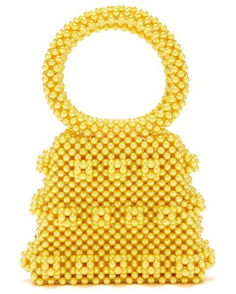 Shrimps dante faux-pearl bag in yellow