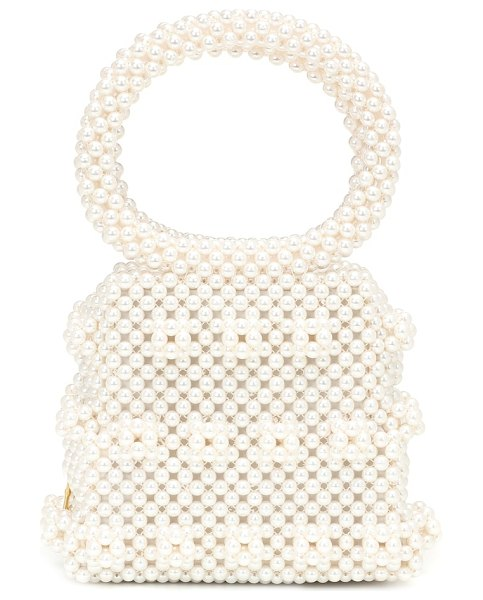 Shrimps dante small beaded tote in neutrals