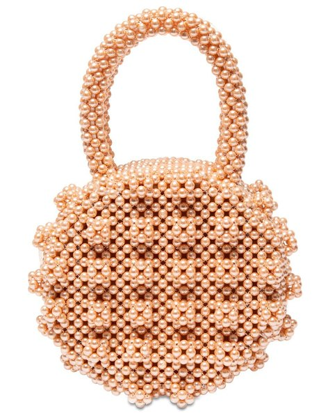 Shrimps Selena round beaded top handle bag in apricot