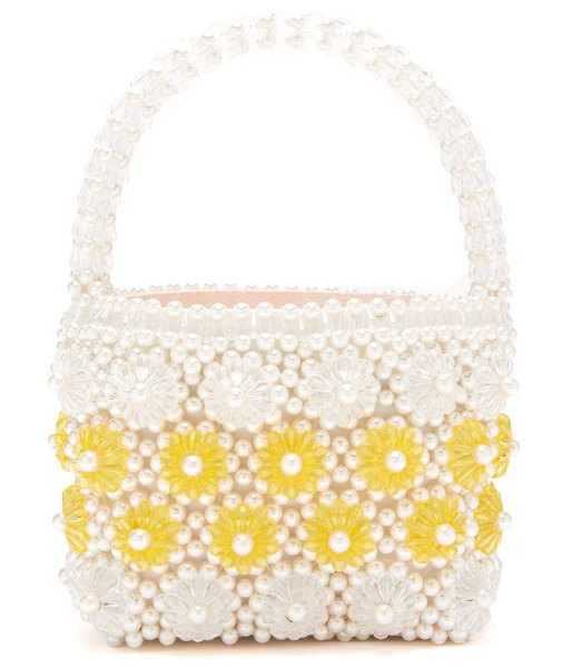 Shrimps shelly faux-pearl embellished bag in cream multi
