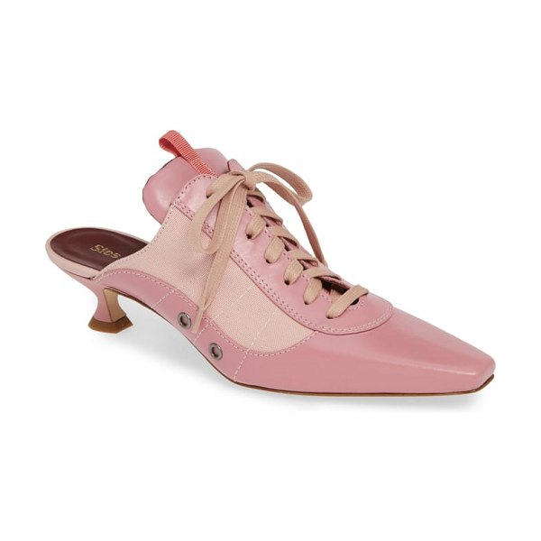 SIES MARJAN alice lace-up mule in pink - This chic lace-up mule pulls off a winning look, with a...