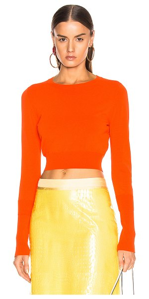 SIES MARJAN gwin crop crew sweater in blood orange