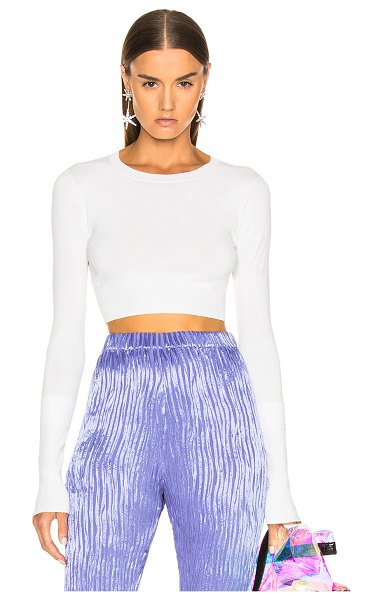 SIES MARJAN gwin crop crew sweater in salt