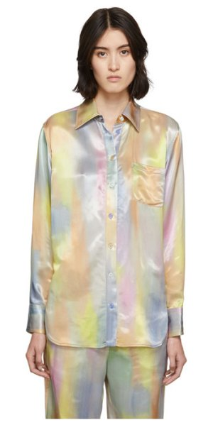 SIES MARJAN multicolor satin sander shirt in multi print
