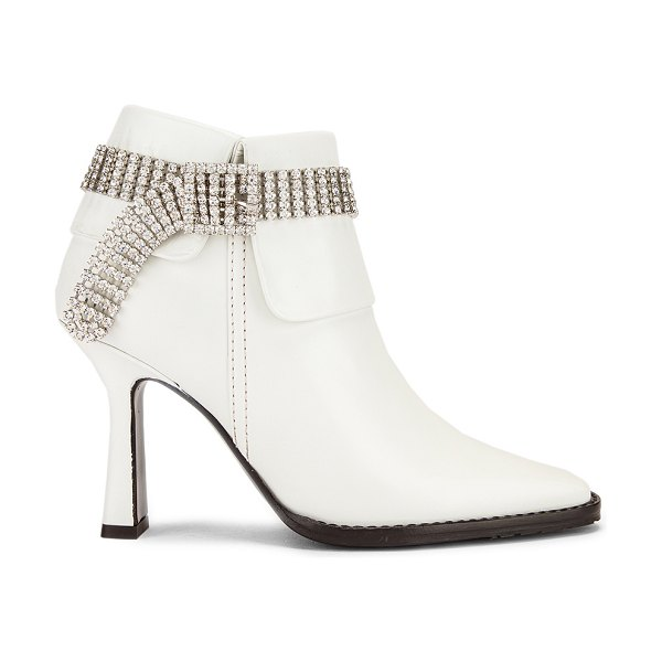 SIES MARJAN niki calf crystal boot in white