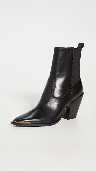 Sigerson Morrison faith double gore square toe booties in black