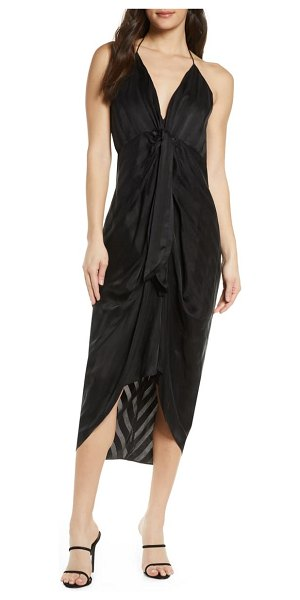 Significant Other daphne high/low halter dress in black