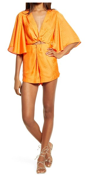 Significant Other isabel romper in manderin