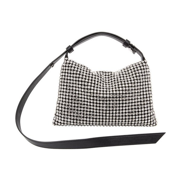 Simon Miller black crystal puffin bag in black,clear