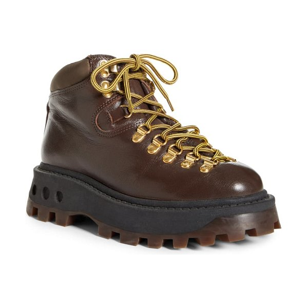 Simon Miller high tracker hiking boot in chocolate