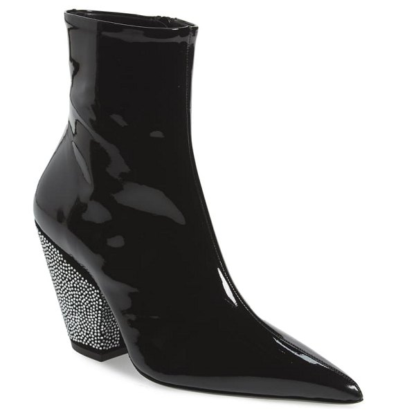 Simon Miller pack crystal embellished pointed toe bootie in black 90303
