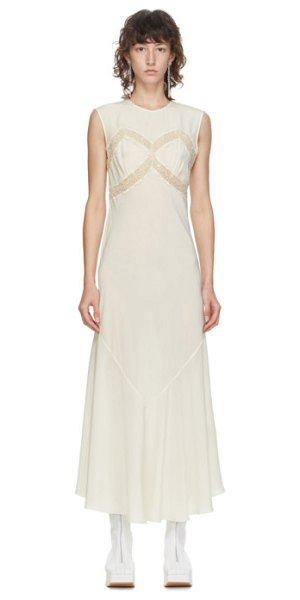 Simone Rocha off-white silk slip dress in cream