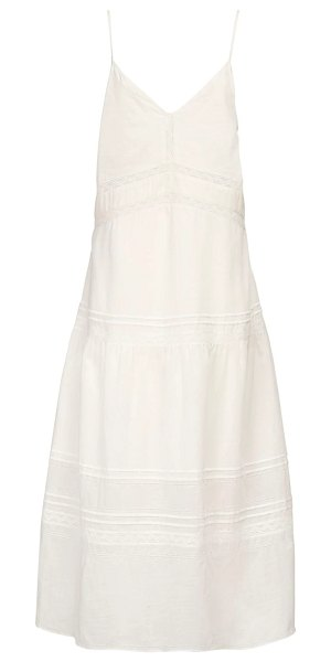 SIR the label Caprice cotton & linen midi dress in ivory
