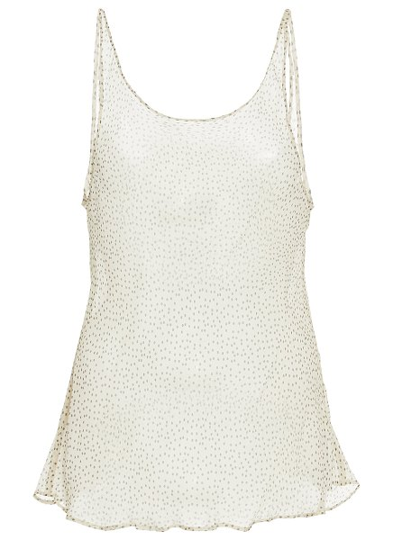 SIR the label millie flocked silk-chiffon tank top in neutral