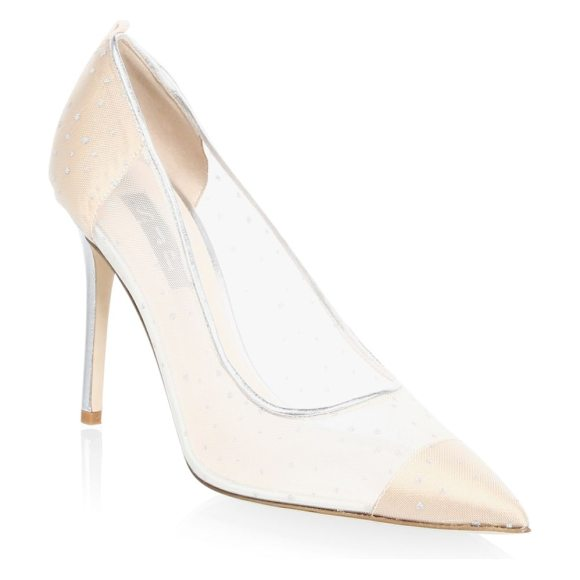 SJP BY SARAH JESSICA PARKER glass material point toe leather pumps - Translucent quality elevates classic pumps. Lacquer-covered...