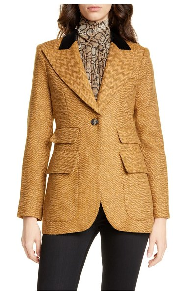 Smythe birkin herringbone wool blazer in scotch herringbone