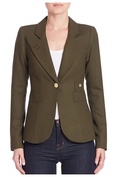 Smythe duchess wool blazer in army,black,camel,ivory,navy,red,slate