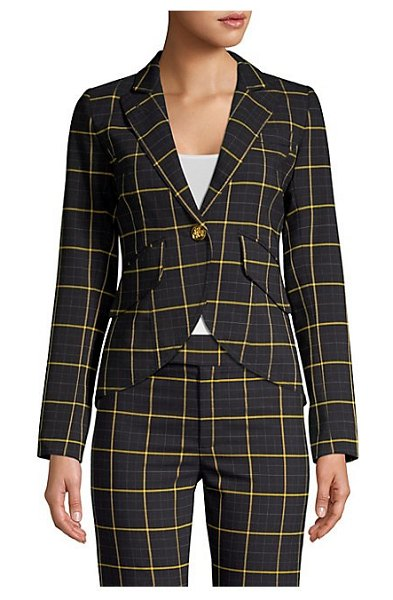 Smythe plaid blazer in navy window pane - From the Saks IT LIST. MAD FOR PLAID. See the...