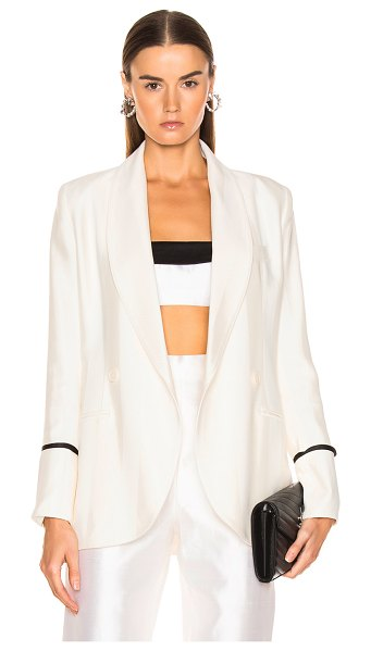 Smythe Tie Blazer in neutral,white - Self: 96% viscose 4% wool - Lining: 100% cupro.  Made in...