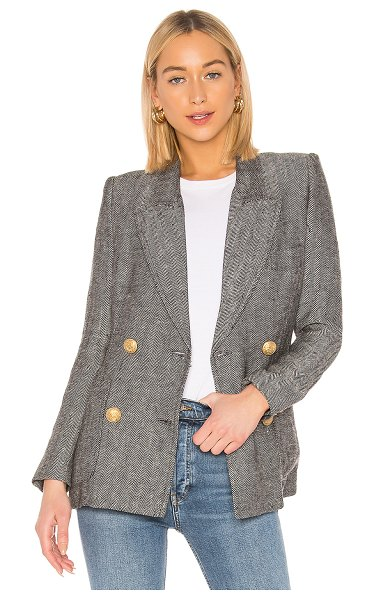 Smythe unstructured blazer in black & white herringbone - Smythe Unstructured Blazer in Grey. - size XS (also in...