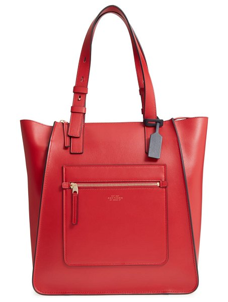 Smythson hero leather tote in women~~bags~~tote - A roomy interior and a polished finish bring...