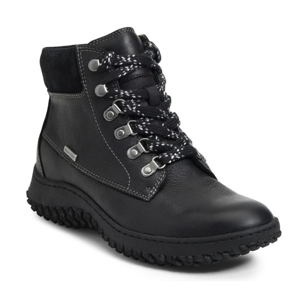Sofft amoret lace-up boot in black leather