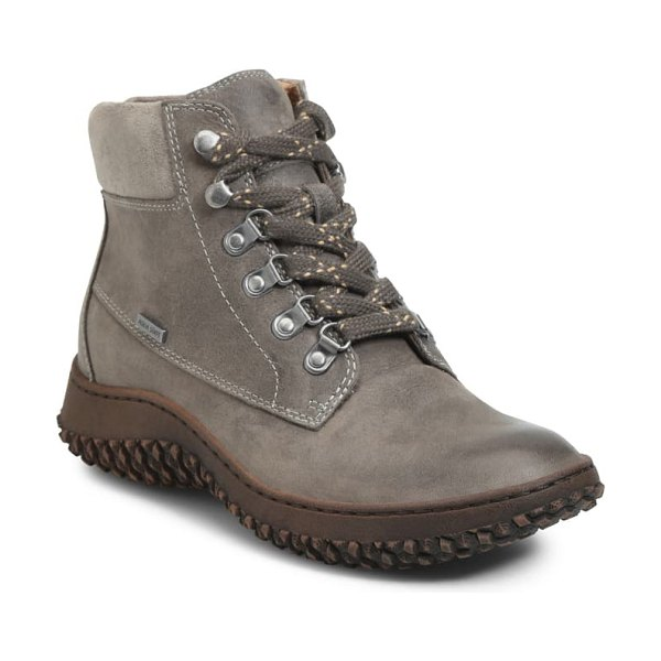 Sofft amoret lace-up boot in moon mist/ pietra grey leather
