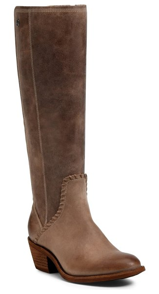 Sofft anniston knee high boot in light taupe leather