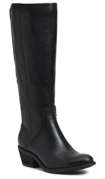 Sofft anniston knee high boot in black leather