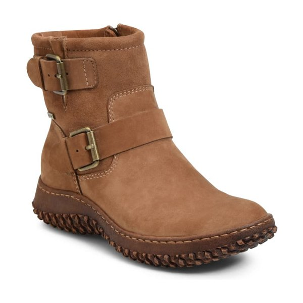 Sofft ashlen waterproof bootie in pinecone/ beige leather