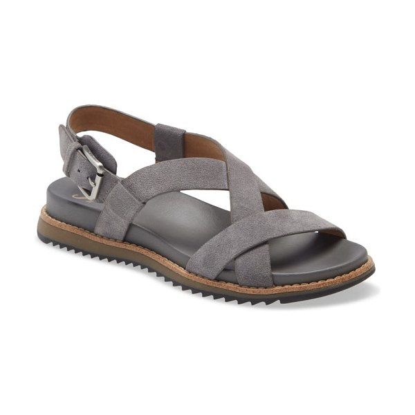 Sofft fairbrook sandal in steel grey