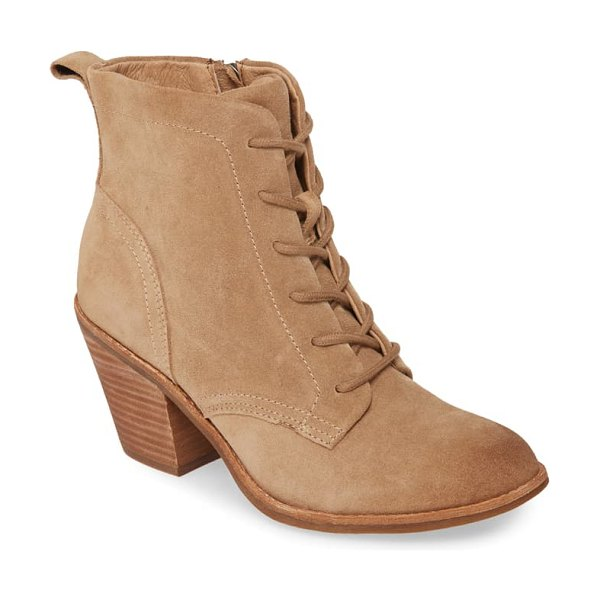 Sofft tagan lace-up boot in barley suede