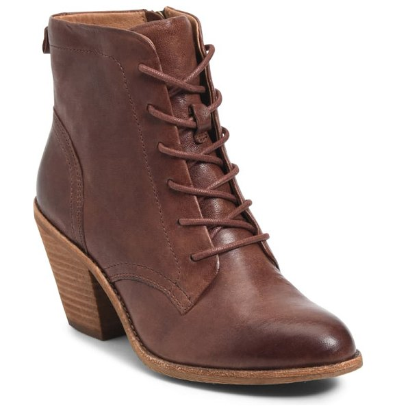 Sofft tagan lace-up boot in cafe leather