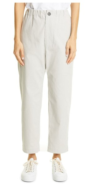 Sofie D'Hoore crop straight leg corduroy pants in mastic