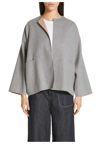 Sofie D'Hoore short reversible wool coat in midca - A loose, boxy silhouette plays up the casual elegance of...