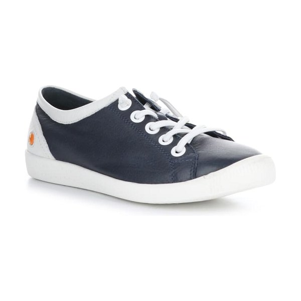 SOFTINOS BY FLY LONDON isla distressed sneaker in navy/ white leather