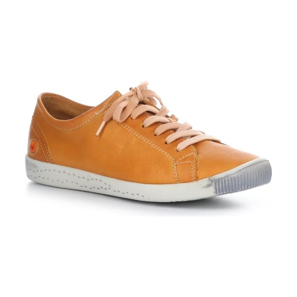 SOFTINOS BY FLY LONDON isla distressed sneaker in orange washed leather