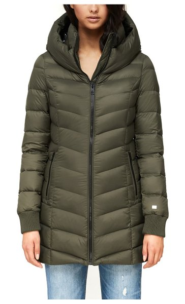 Soia & Kyo alanis hooded water repellent lightweight down coat