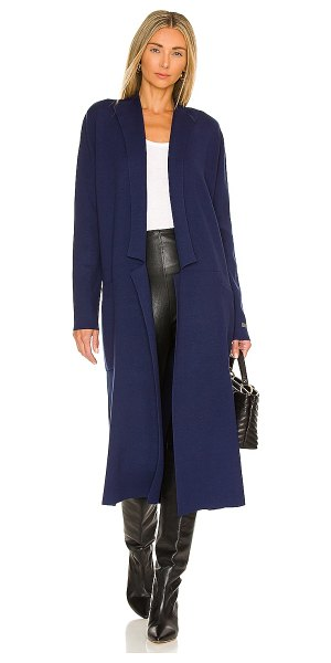 Soia & Kyo annabella trench coat in lapis